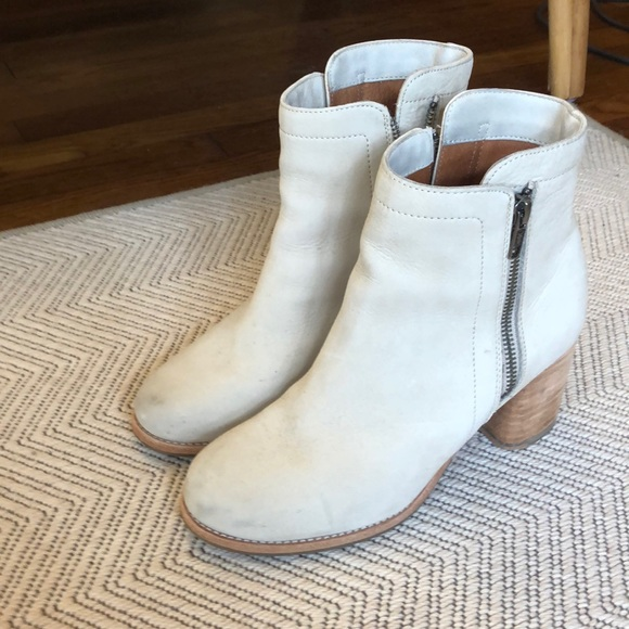 Frye Shoes | Cream Suede Boots | Poshmark